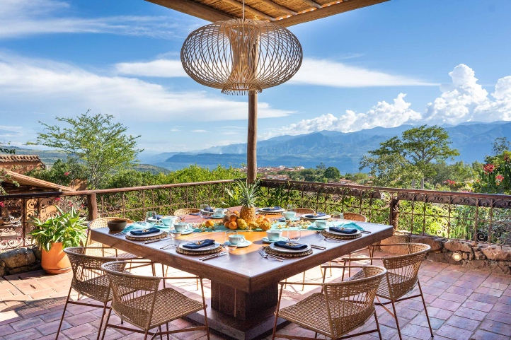 Panoramic view from the terrace in Casa del Presidente Hotel.